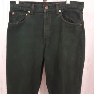 Levi's | Men's Green 550 Relaxed Fit Tapered Jeans